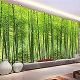 Fushoulu Natur Landschaft Grün Bambus Wald Foto Wandbild Maßgeschneiderte Größe 3D Tapete Für Wand Wohnzimmer Tv Sofa Hintergrund Wanddekor-400X280Cm