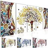 Cuadros de 200 x 80 cm - Gustav Klimt - Árbol de la vida - Cuadro en lienzo no tejido - Impresión de arte - Imagen para la pared - Más colores y tamaños en la tienda - Listo para colgar ¡100 % FABRICADOS EN ALEMANIA! 004655a