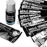UES Kamera APS-C Sensor Reinigungs Kit für 6 bis 12 Reinigungen, 14 x Swab 16mm