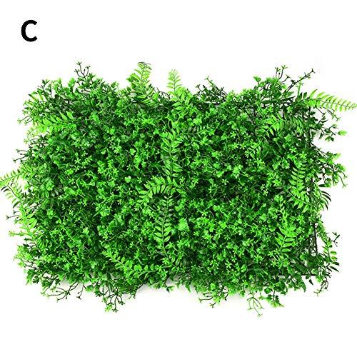 Künstliche Pflanze Rasen Wand Topiary Heckenpflanze Faux Greenery Rasen für Garten Hinterhof Hauptdekorationen Grün Ivy Leaf Fencing Screens Dekoration