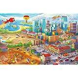 FUMETTO colorato città grande fotomurale decorazione da parete by Great Art 210 cm x 140 cm