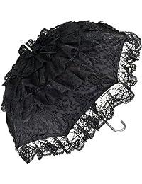 Parasol Parapluie Mariée Melissa LILIENFELD® VON Ombrelle Femme noir TqHnOa