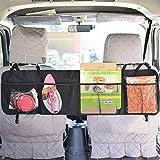 Tofree Universal-Auto-Kofferraum Gepäcknetz-Sicherheitsnetz Kofferraum-Netto-Organizer, Mesh-Sitz zurück Lagerung für Cargo Grocery (6 Taschen,Schwarz, Größe: 110 x 30 cm)