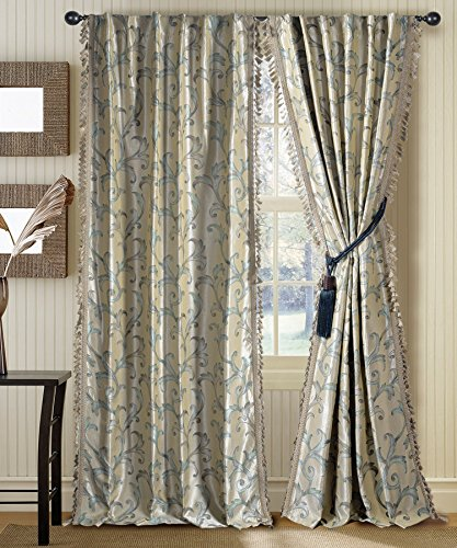 Deco Window 1 Piece Curtain Galaxy Light Sea Foam 46