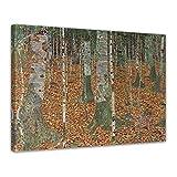 Bilderdepot24 Leinwandbild - Gustav Klimt - Birkenwald - 60x50cm einteilig - Alte Meister - Kunstdruck - Leinwandbilder - Bild auf Leinwand