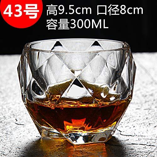 Glaseres Cristalería Copa De Whisky De Cristal Sin Plomo Copa Cuadrada Cristal para El Hogar Creativo, Copa Spirit, Copa De Vino, Cerveza Y Utensilios De Vino, No.43 Taza