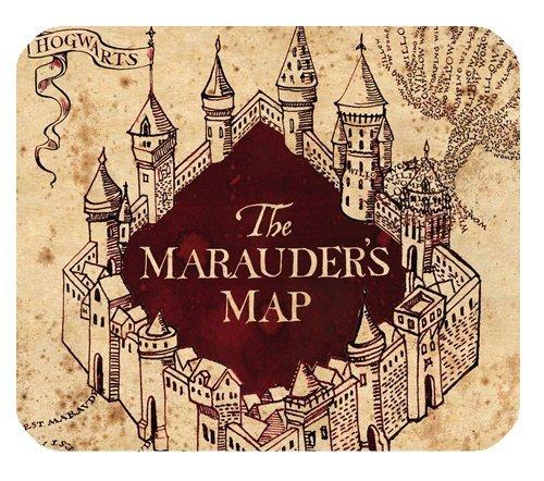 Alfombrilla de ratón 58Harry Potter el mapa del merodeador oficina personalizada Rectángulo Mousepad de goma antideslizante alfombrilla de ratón