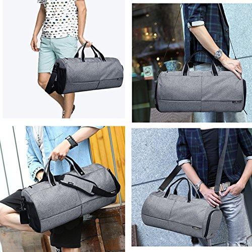 """Gym Taschen 22L Sport Duffel Tasche Wasserdichte Gepäck Cross-Body Taschen mit Schuhen Fach für 17 """"Komm mit einem Handy Aufkleber Schwarz"""