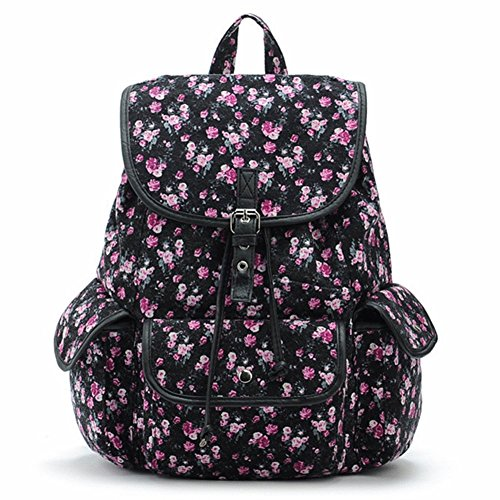 lihi-mode-exklusive-vintage-damen-hohe-qualitat-leinwan-rucksack-schwarz