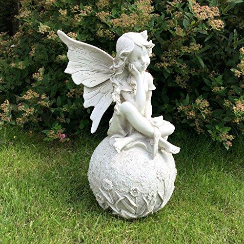 Große 30,5cm Statue Fairy Garden Ornament Figur Antik Stein Effekt Skulptur