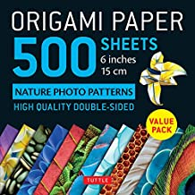 """Origami Paper 500 Sheets Nature Photo Patterns 6"""" (15 CM): Tuttle Origami Paper: High-Quality Double-Sided Origami Sheets Printed with 12 Different Designs (Instructions for 6 Projects Included)"""