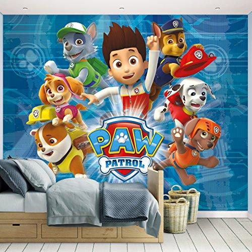 Kindertapete - Wandtapete - Fototapete Paw Patrol + Tapetenkleister - Mädchen, Disney Tapete, Kinder,