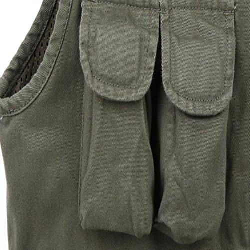 HSNZZPP Herren Anglerjacke Mittleres Alter Multi-Tasche Beiläufig Weste Outdoor Sport Angeln Tooling Vest Fotografie Weste ArmyGreen