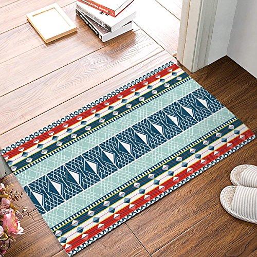 Jkimiiscute Teppich, türkisches traditionelles Muster, Badezimmer-Fußmatte, Rutschfest, für den Innenbereich, 59,9 x 39,9 cm, L x B - Luxus Traditionelle Teppich