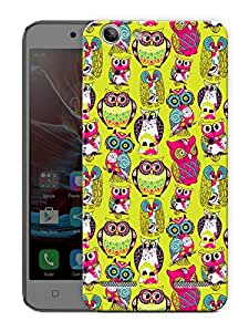 "Humor Gang Cute Owl Art Printed Designer Mobile Back Cover For ""Lenovo Vibe K5 - K5 Plus"" (3D, Matte Finish, Premium Quality, Protective Snap On Slim Hard Phone Case, Multi Color)"
