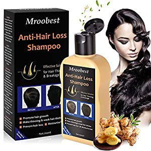 Anti-Hair Loss Shampoo, Anti-Hair Loss Hair Growth Shampoo Treatment Natural Ingredients, Effective Solution for Hair Thinning & Breakage, Helps Stop Hair Loss, Stimulates Hair Re-growth for Men & Women - 200ML