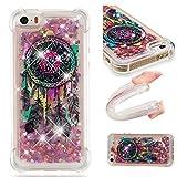 Janeqi Coque Apple iPhone 5/5S/SE(4.0') - Etui de téléphone Quicksand,Silicone Anti-Chute Housse Coque pour Apple iPhone 5/5S/SE(4.0') [FSLS4/Big Dream Network]