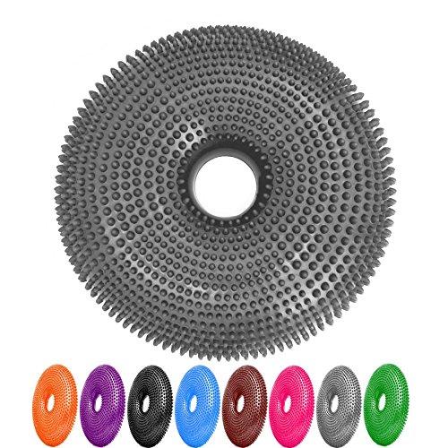 #DoYourFitness Ballsitzkissen mit Loch »Donut« inkl. Pumpe (ca. 140kg Maximalgewicht) /Luftkissen/Balance-Kissen für Fitness-, Reha-, Koordinations-, und Rückentraining/ 33 cm/spacegrau