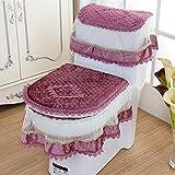 Tuch Plüsch Toiletten-Sets Drei Drei Sets Von WC Sitting Anzug Reißverschluss WC Warm Unterlegscheiben,A2