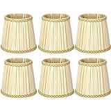 6 stks stof kroonluchter wandlamp kappen licht cover, stof lampenkap voor E14 gloeilamp lampenkap vervanging