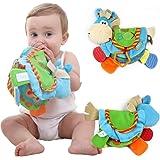 PanDaDa Livre en Tissu Livre D'éveil Multifonction Jouet Educatif Cadeau Anniversaire Fête Nouvel an pour Bambin Bébé de 0 à