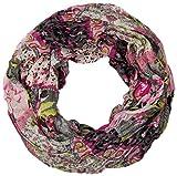 styleBREAKER Loop Schlauchschal mit Blumen Alloverprint Mustermix/Crash and Crinkle (Grau)