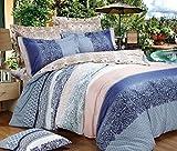Weimilon Baumwolle Bettbezug Vier Jahreszeiten,Gitter,Gestreift,Einzigen,Student,Individuell,Double A Casual Chic 200X230Cm(79X91Inch) (Color : T, Size : 150x215Cm)