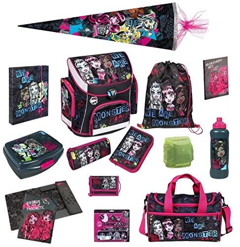 Monster High Schulranzen Set 21tlg. Schultüte 85cm Sporttasche Scooli Campus Plus (High Geldbörse Monster)