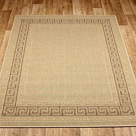 Chiave Greca Tappeto Antiscivolo tappeto in beige 80x 150cm