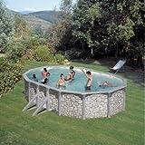 FEELING Pool-Set 500x300x120 cm Stein-Optik mit viel Zubehör für eine tolle Pool-Saison