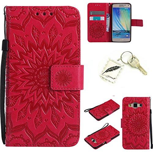 Preisvergleich Produktbild Silikonsoftshell PU Hülle für Samsung Galaxy A5 (2015) A500 (5 Zoll) Tasche Schutz Hülle Case Cover Etui Strass Schutz schutzhülle Bumper Schale Silicone case+Exquisite key chain X1) #KC (3)