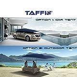 TAFFIO 2 in 1 Auto Kfz und Outdoor Schutz Zelt Plane Sonne Regen Schirm Manuelle Bedienung Sonnenschirm und Regenschutz fürs Auto Manuelle Bedienung Schirm Schutz