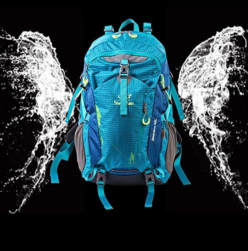 YYY-All'aperto alpinismo borsa professionale Seiko 40L sospensione borsa di alpinismo che trasportano parapioggia , green Blue