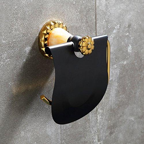 VLIMG Todos naturales de jade cobre negro oro viejo papel coloreado toallero, B