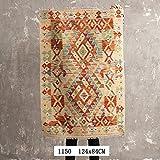 BAGEHUA pakistanais sur mesure géométrique ethnique turque Tapis Salon Tapis de plancher, couleur, 1150 124x84cm...