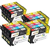Win-Tinten Kompatibel Tintenpatronen Epson 18 XL für Epson Expression Home XP-322 XP-412 XP-305 XP-312 XP-405 XP-425 XP-325 XP-225 XP-215 XP-202 XP-415 Drucker (5 Schwarz+3 Cyan+ 3 Magenta+ 3 Gelb)