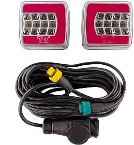 Rückleuchten Set Led 4f Auf Magnet 7 5 2 5 Meter Kabel 13 Polig Anhänger Beleuchtung Set Rückleuchten Rücklicht Bremslicht Baumarkt