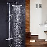 Hausbath BT008temperatura miscelatore doccia set soffione per doccia set doccia cromato bagno termostatico doccia combinata
