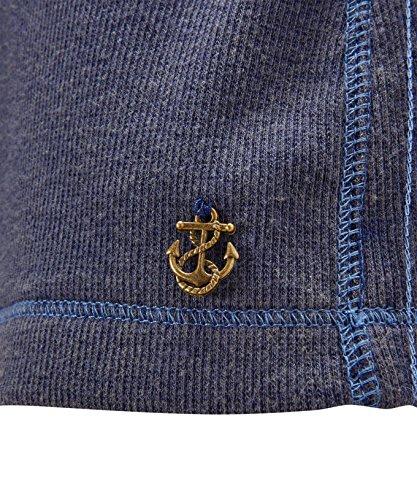 Joe Browns Haut en Jersey à Manches Longues et Boutons - Femme Bleu