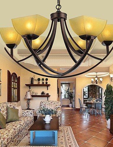 XY&XH Kronleuchter,Kronleuchter 6 Lichter Traditionell/Klassisch/Vintage Wohnzimmer/Schlafzimmer/Esszimmer/Arbeitszimmer/Büro Metall -