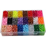 24 Color Perler Beads Children Educational jigsaw puzzle diy Toys Fuse Beads Pegboard