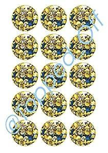 """15 x 2 """"(5cm) Minions - Round Essbare Kuchen-Deckel Schmuck ideal für Geburtstage"""