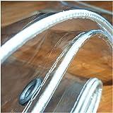 GDMING transparant dekzeil waterdichte zware Tarps oogjes outdoor PVC zacht glas UV en koud bestendig regendicht gemakkelijk