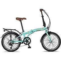 20 Zoll Camping Klapprad Klapp City Fahrrad Klappfahrrad Faltrad Rad Bike 6 Shimano Gang Beleuchtung STVO CUNDA Türkis…