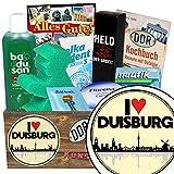 I love Duisburg | Pflege Box | Geschenkbox | I love Duisburg | Pflegepaket | Geschenk Oma Duisburg | mit Florena Creme, Elka Dent, Badusan und mehr