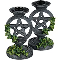 Nemesis Now Aged Pentagram Candlesticks Candle holder grey-green by Nemesis Now
