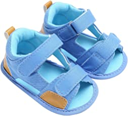 Saingace Toddler Baby Boys Canvas Sandals Soft Soled Anti-slip Footwear First Walking Shoes