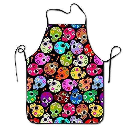 ten Farben Schädel Schürzen Koch Schürze für Frauen Männer Mädchen Kinder Geschenke Küche Dekorationen ()