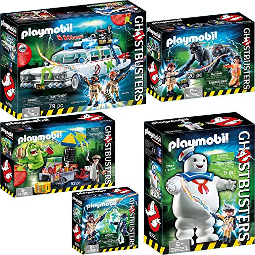 PLAYMOBIL® GhostbustersTM set en 5 parties 9220 9221 9222 9223 9224 Ecto-1 + Stay Puft l