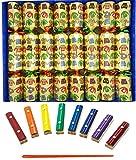 Ensemble de 8 billets de musique Crqauleins de Noël en or par Crackers Ltd (Cat F1)